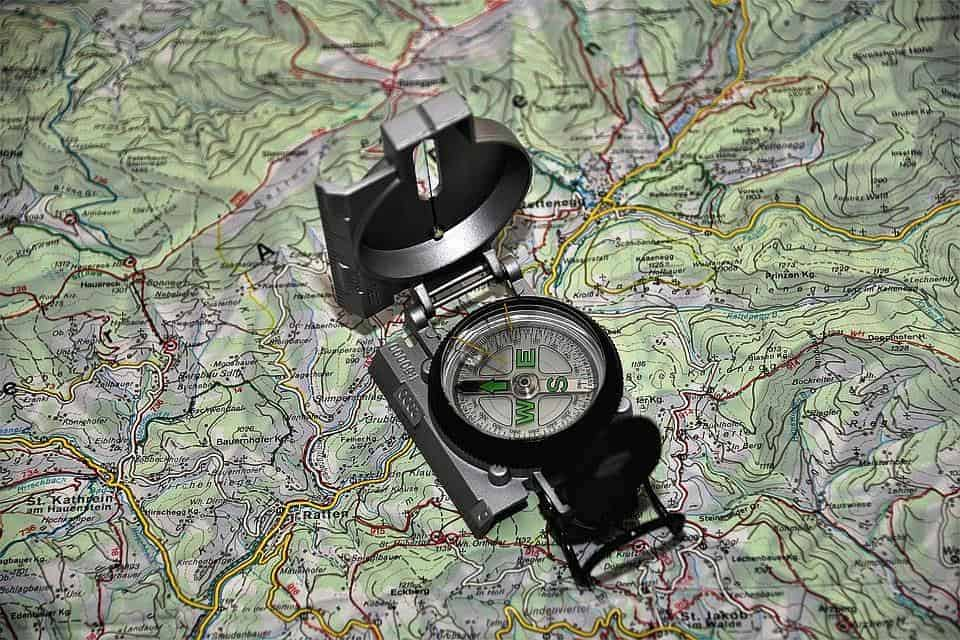 A Compass and a Topographic Map