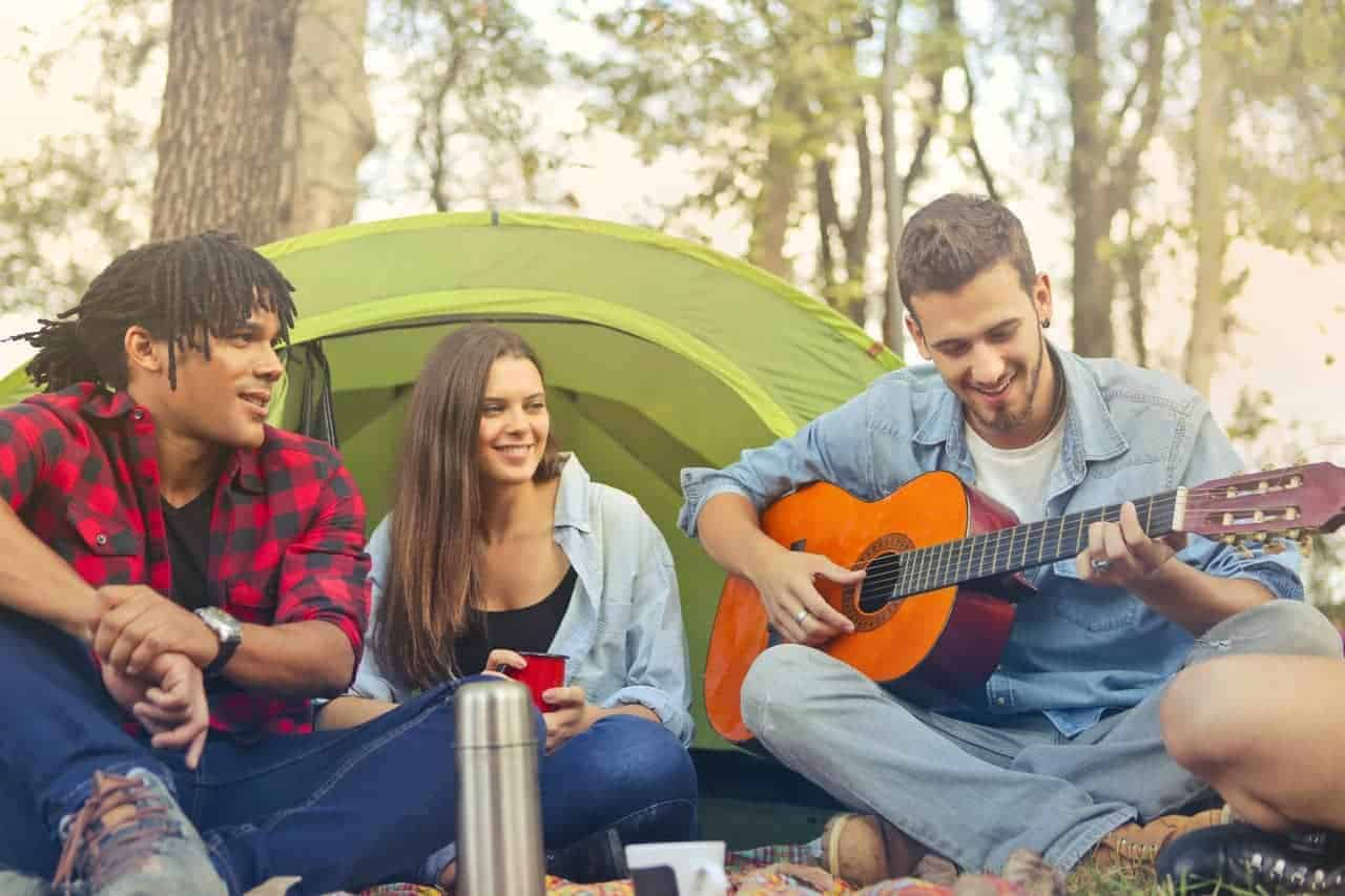 Activities for large families on a camping trip