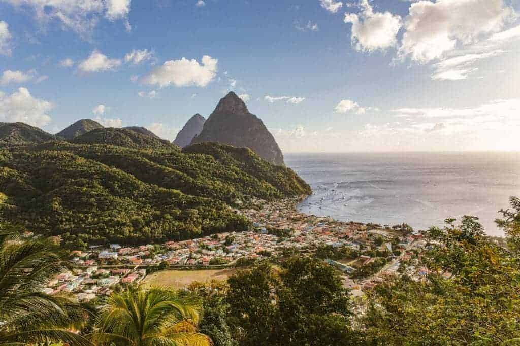 St Lucia The Pitons